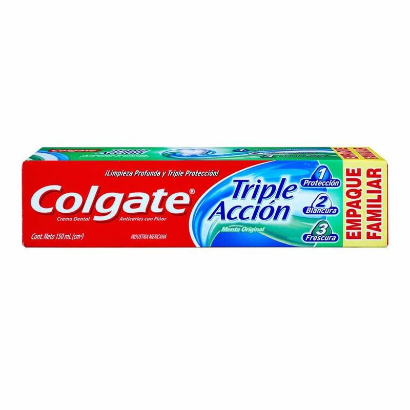 Crema Dental Triple Acción 150ml - Empaque Familiar