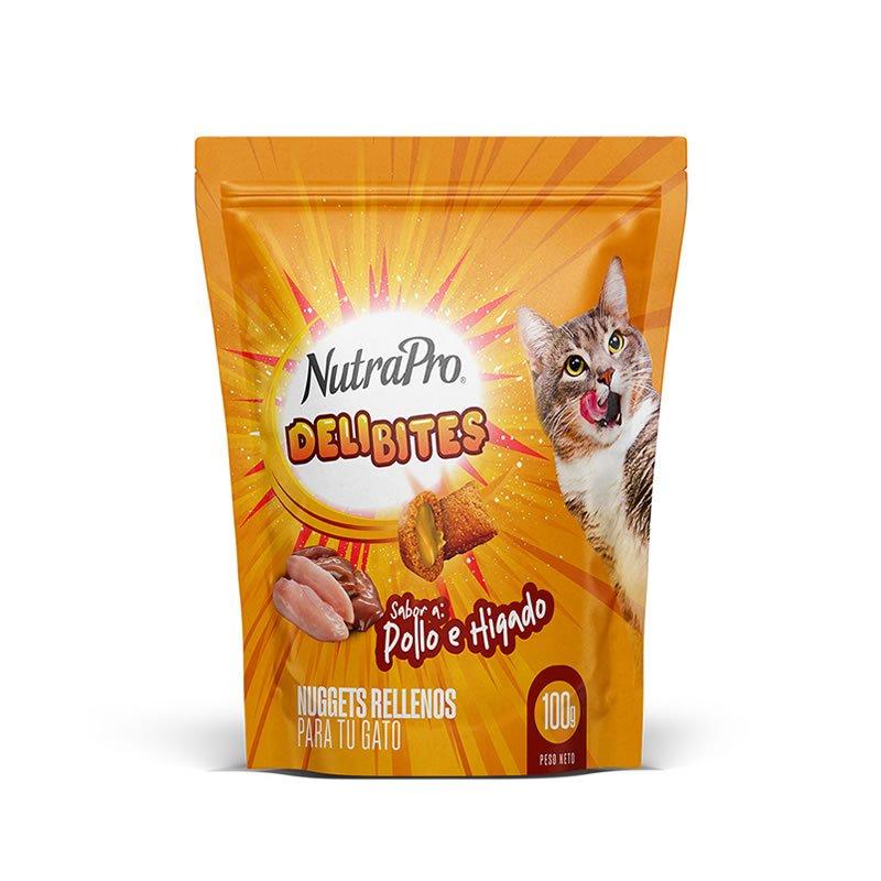 Nutra Pro Delibites Snack para Gatos Sabor a Pollo e Hígado 100g