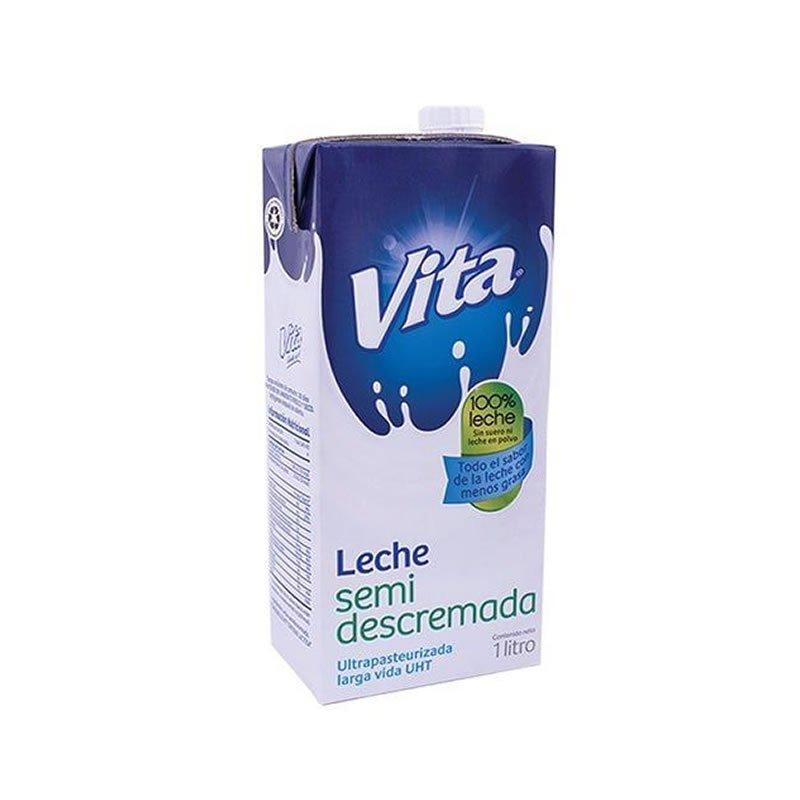 Leche Vita Semidescremada de Cartón 1lt