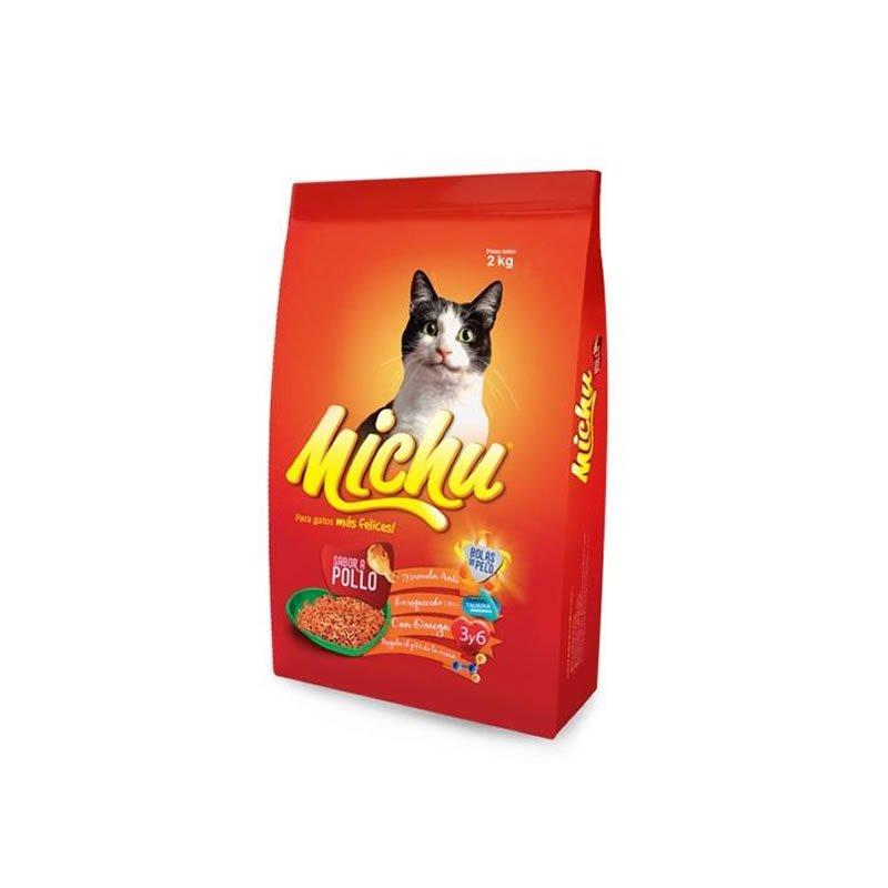 Comida para gatos Michu sabor a pollo 2kg