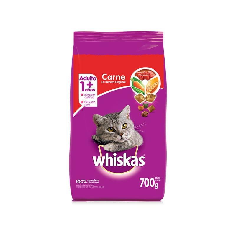 Alimento para gatos adultos sabor a carne 700g